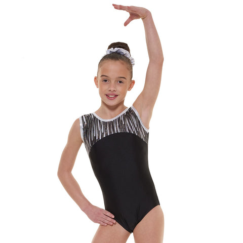 Tappers And Pointers SL Cascade Lycra Gymnastics Leotard