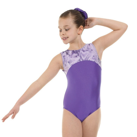 Tappers and Pointers Sleeveless Lycra/Foil Gymnastics Leotard