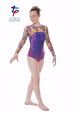Tappers and Pointers Rainbow Patterened Gymnastics Leotard