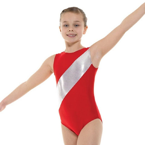 Tappers and Pointers Lycra & Platinum Shine Gymnastics Leotard