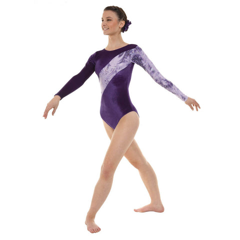 Tappers and Pointers Grape Smooth Velvet Gymnastics Leotard