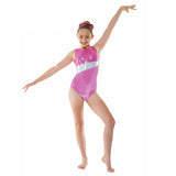Tappers and Pointers Smooth Velvet & Cosmic Shine Gymnastics Leotard