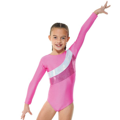 Tappers And Pointers LS Lycra Cosmic Gymnastics Leotard