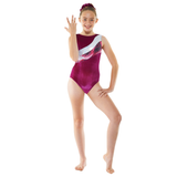 Tappers and Pointers Velvet Gymnastic Leotard with Foil Print