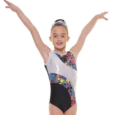 Tappers And Pointers SL Astro Foiled Gymnastic Leotard
