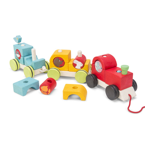 "LE TOY VAN Petilou Stacking Train ""Woodland Express"""