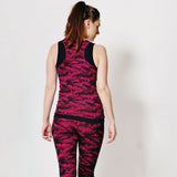 Pineapple Cameo Ruched Double Layer Dance Vest
