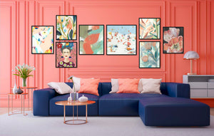 Gallery Wall of Floral & Figurative