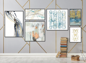 Mixed Abstracts Gallery Wall