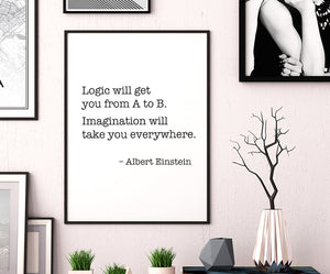 Einstein's Logic Quote Poster