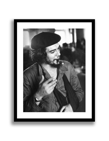 "CANVAS Cuban Rebel Ernesto ""Che"" Guevara, Left Arm in a Sling, Talking with Unseen Person"