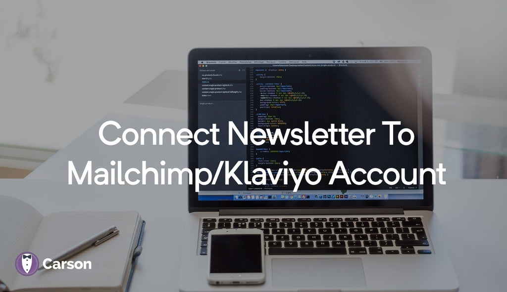 Connect newsletter to Mailchimp/Klaviyo account