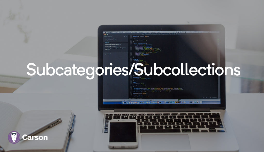 Subcategories/subcollections