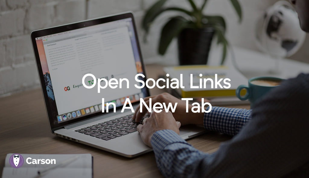 Open social links in a new tab