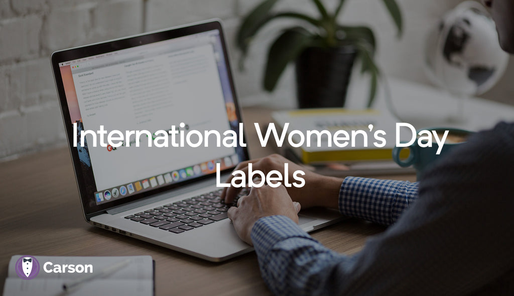 Product Labels For Women's Day