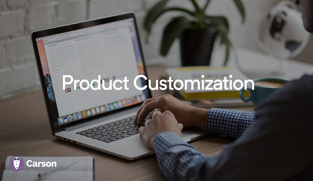 Get customization information for products