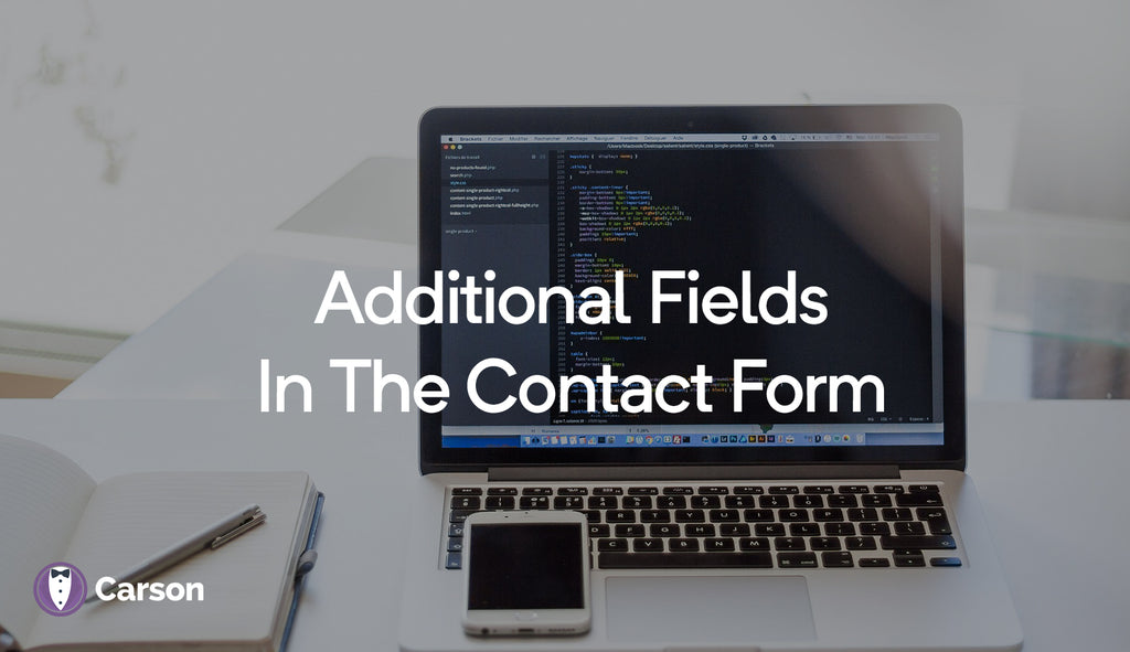 Additional fields in the contact form