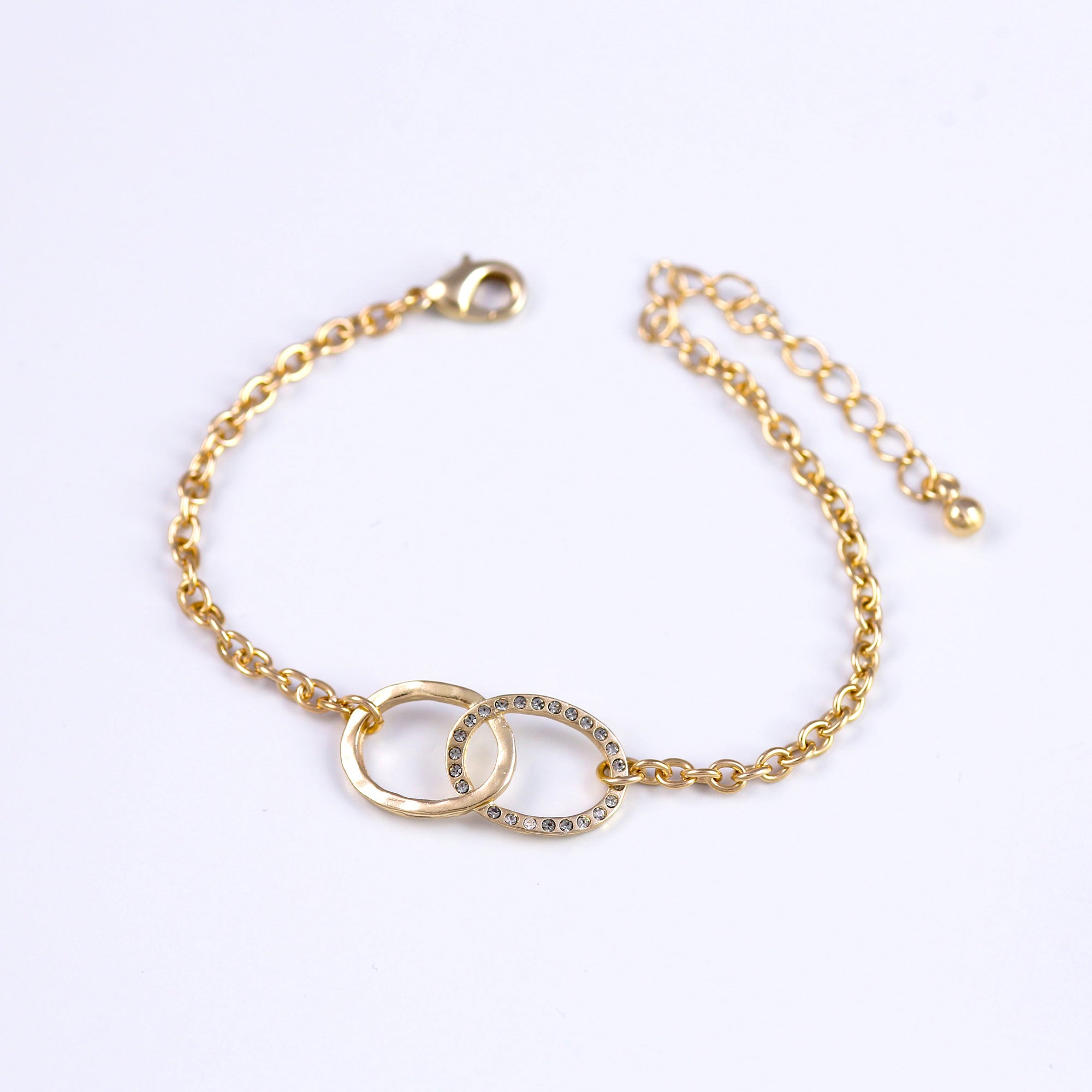 Gold & Black Diamond Bridal Infinity Bracelet