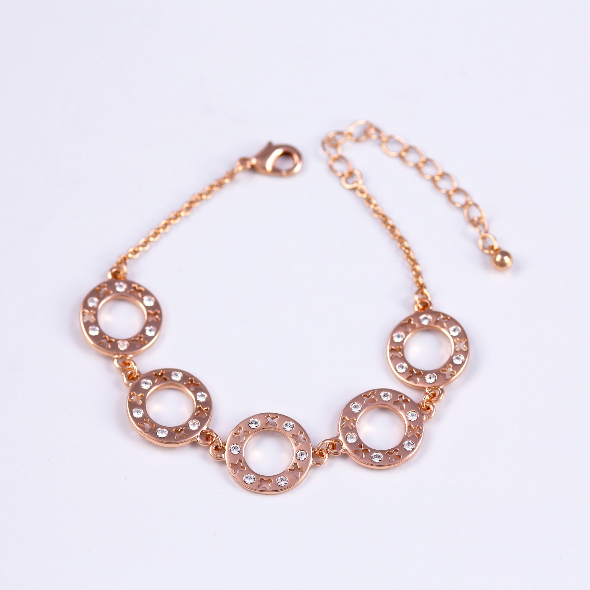Multi-link XOXO Rose Gold Bracelet