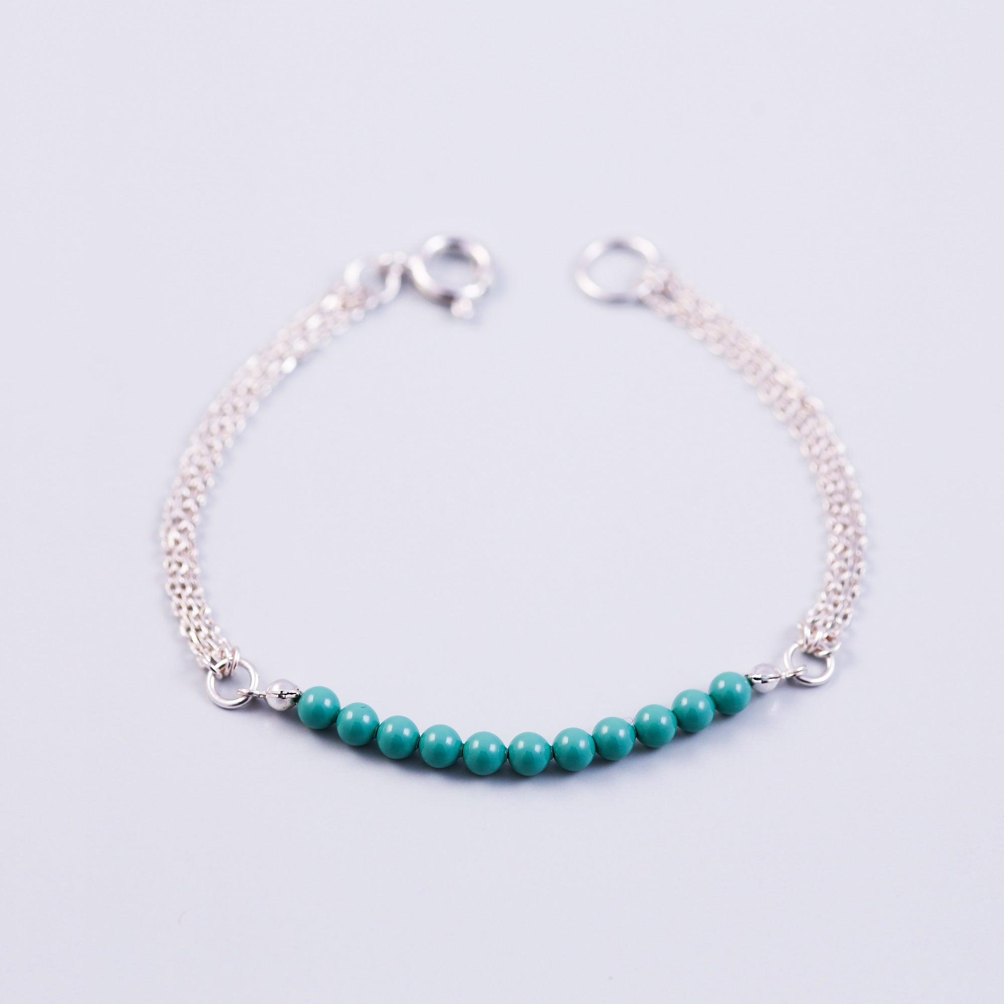 Pearl Bead Bracelet | Cute Friendship Bracelets | Friendship Jewellery | Silver & Jade