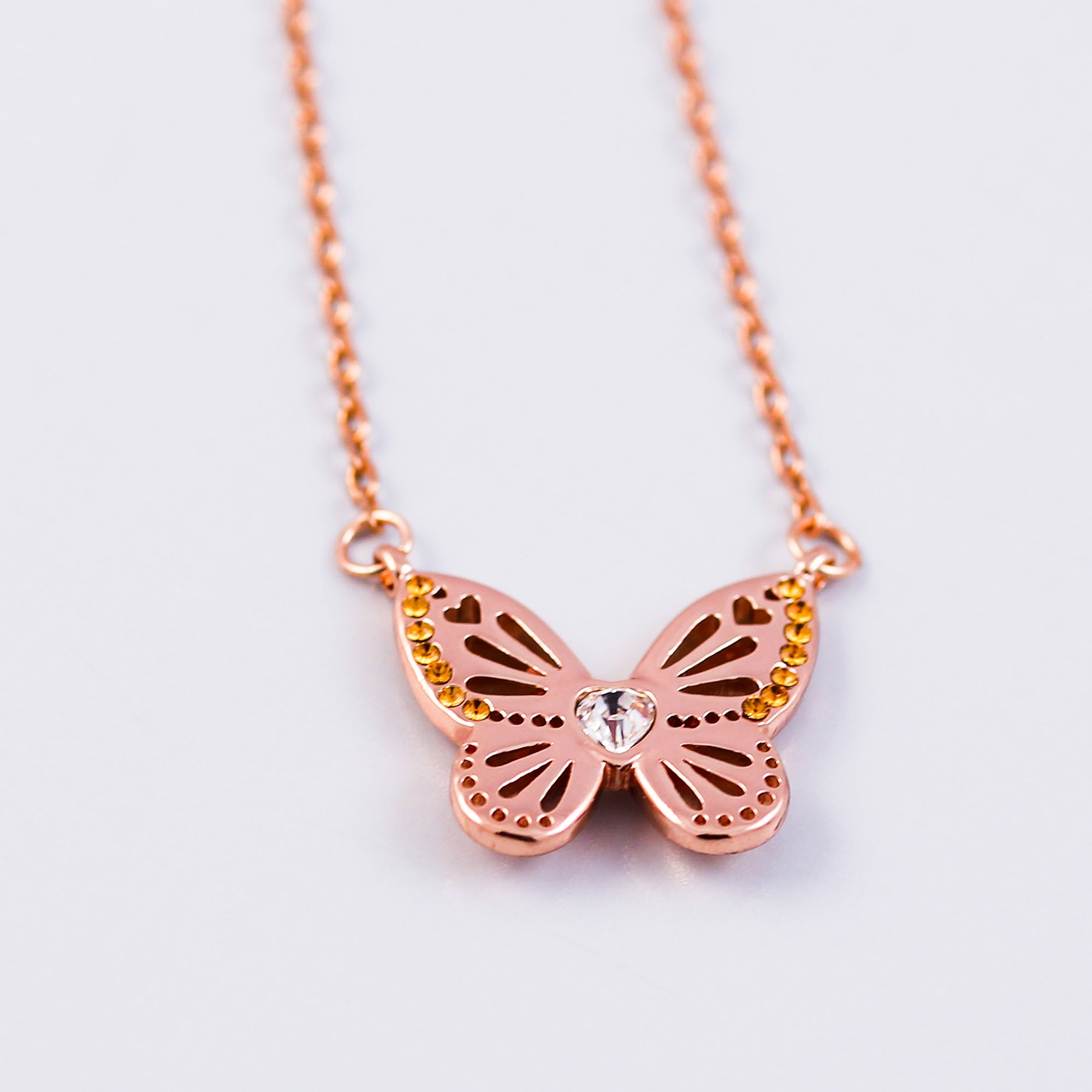 Butterfly Necklace | November Birthstone Necklace | Birthstone Colours