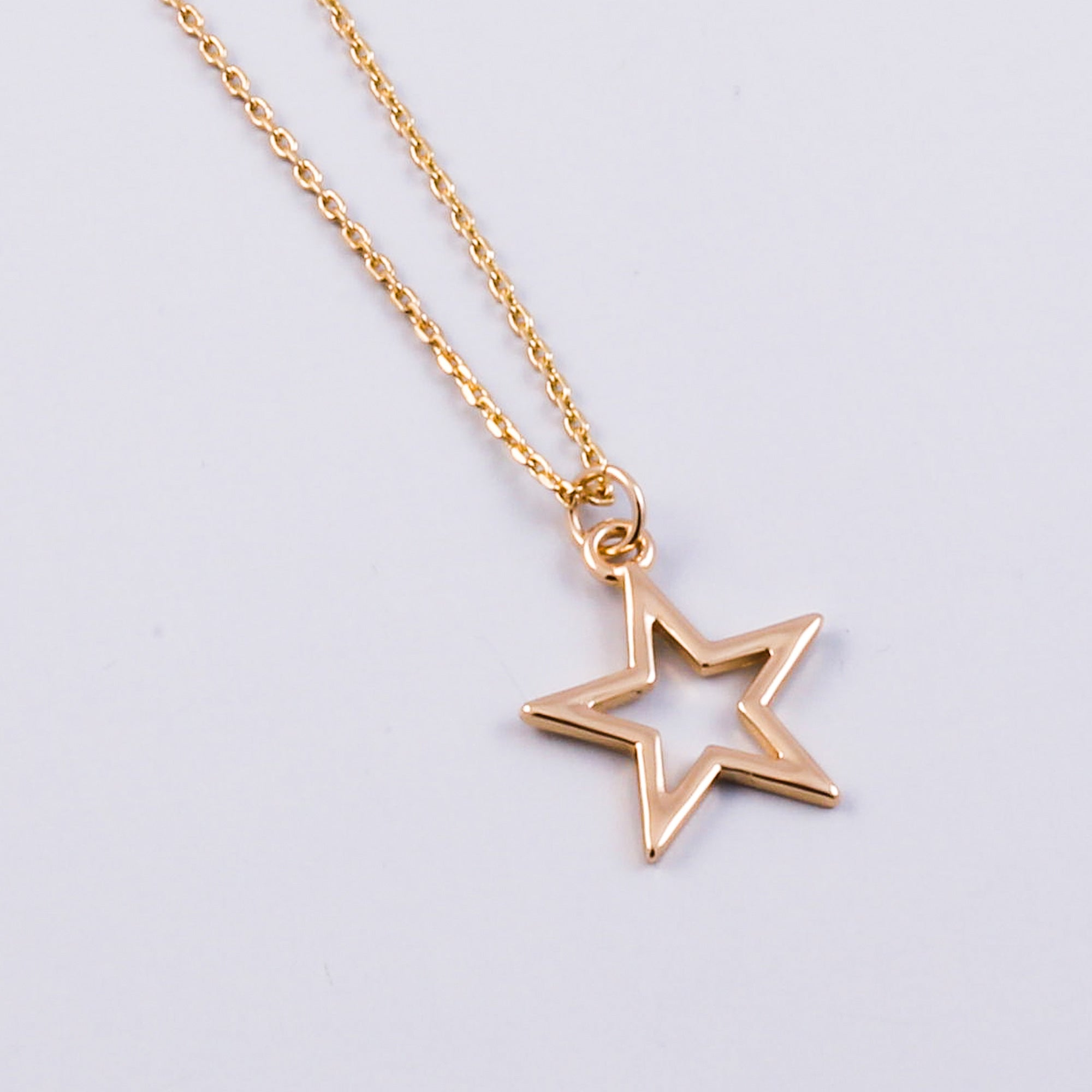 Gold Outline Star Necklace