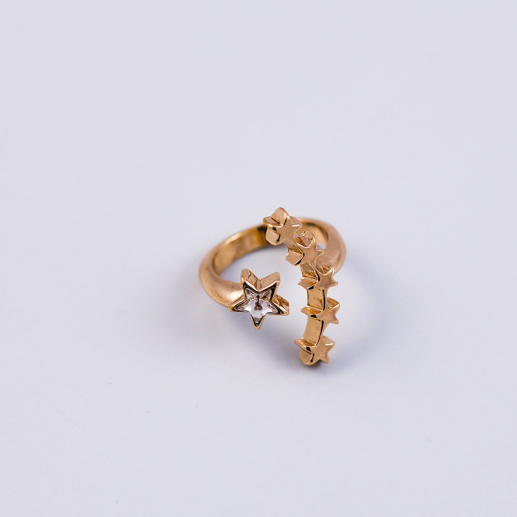 Gold & Crystal Shooting Star Cocktail Ring