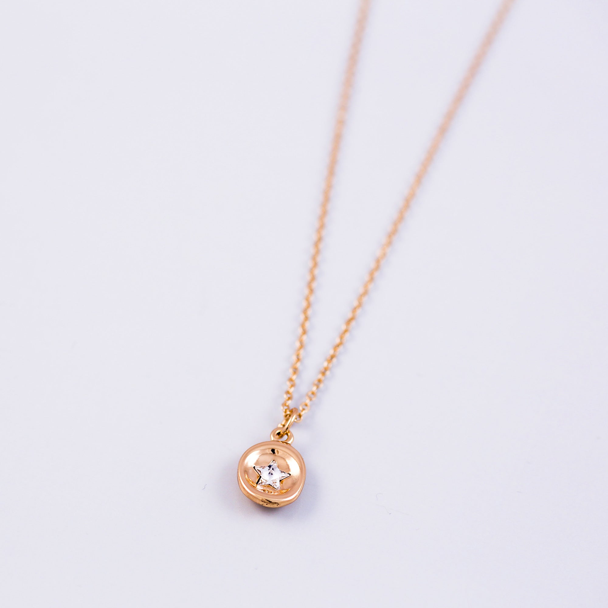 Gold Star Wax Seal Charm Necklace