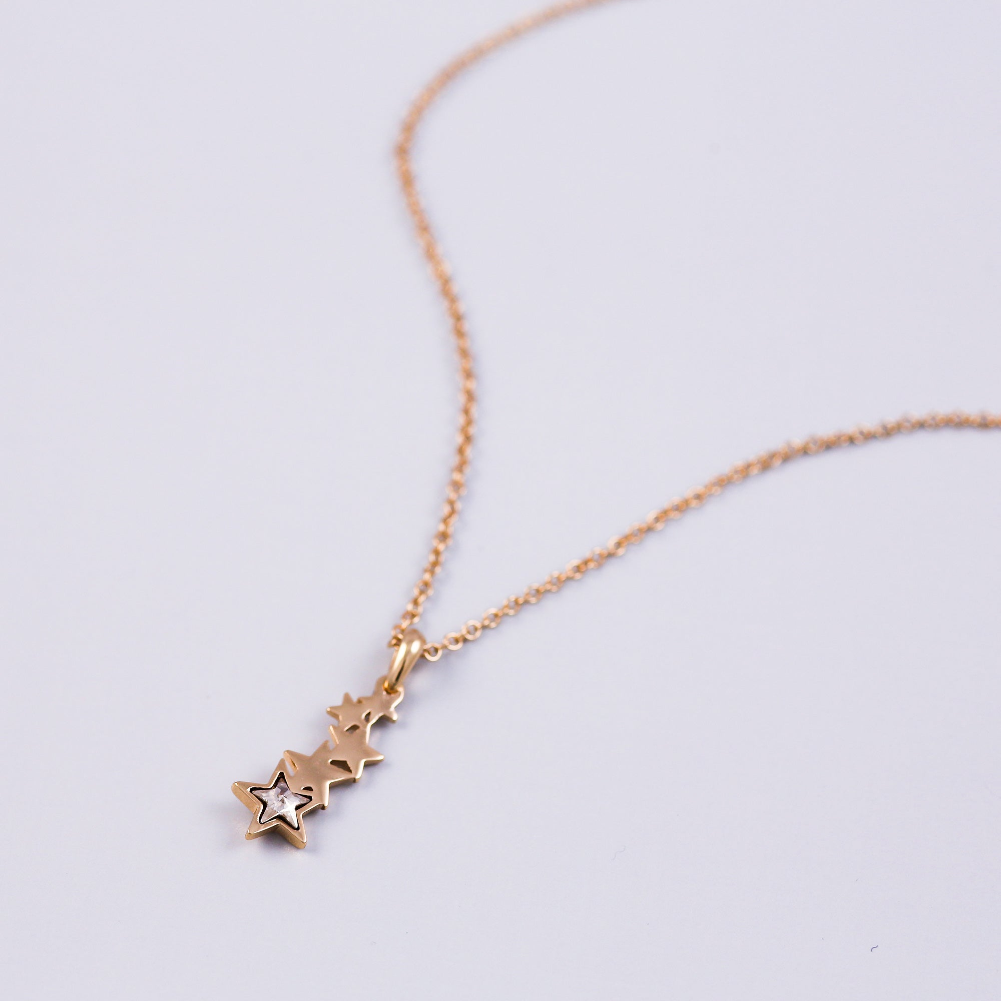 Gold & Crystal Shooting Star Necklace