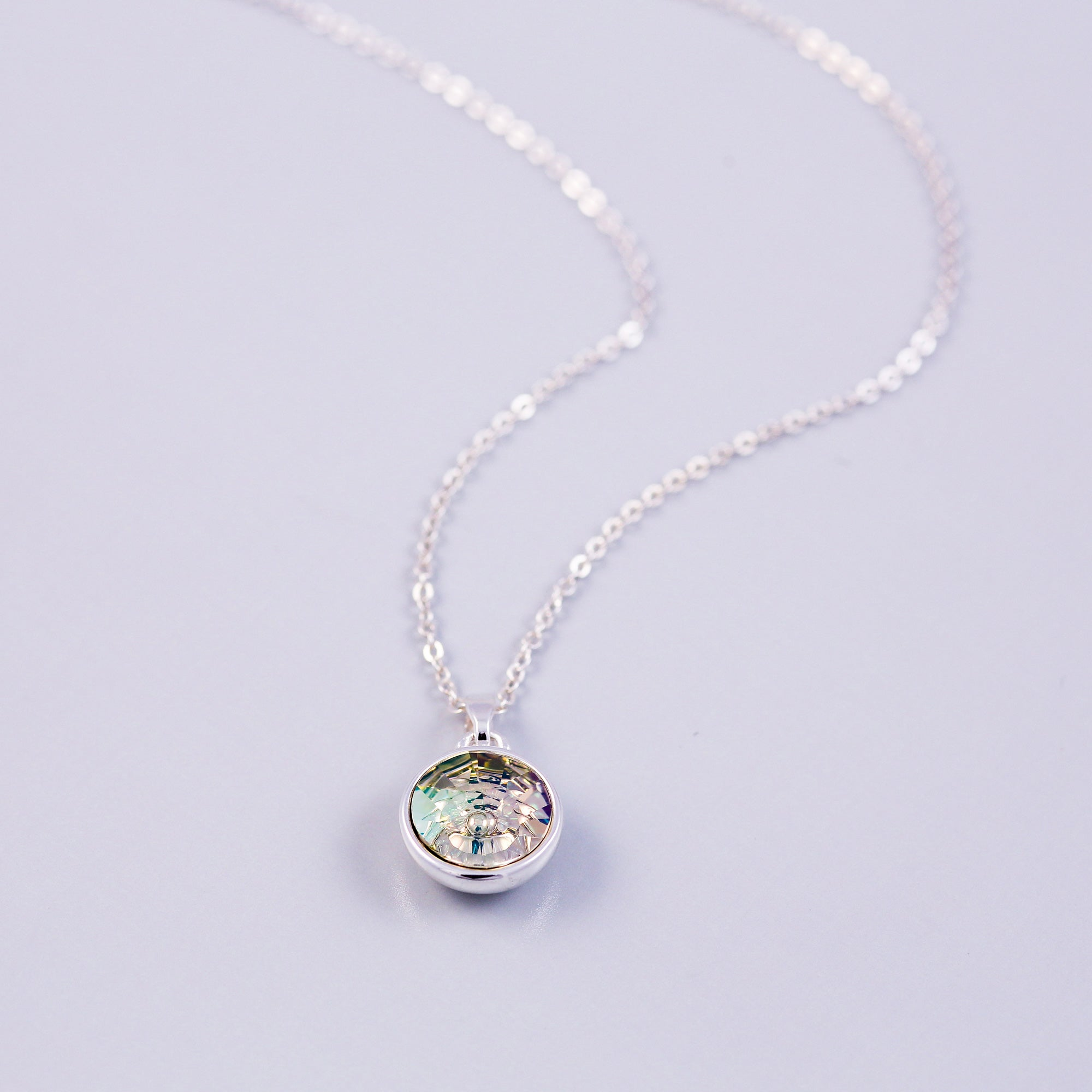 Silver Earth Element Gemstone Necklace