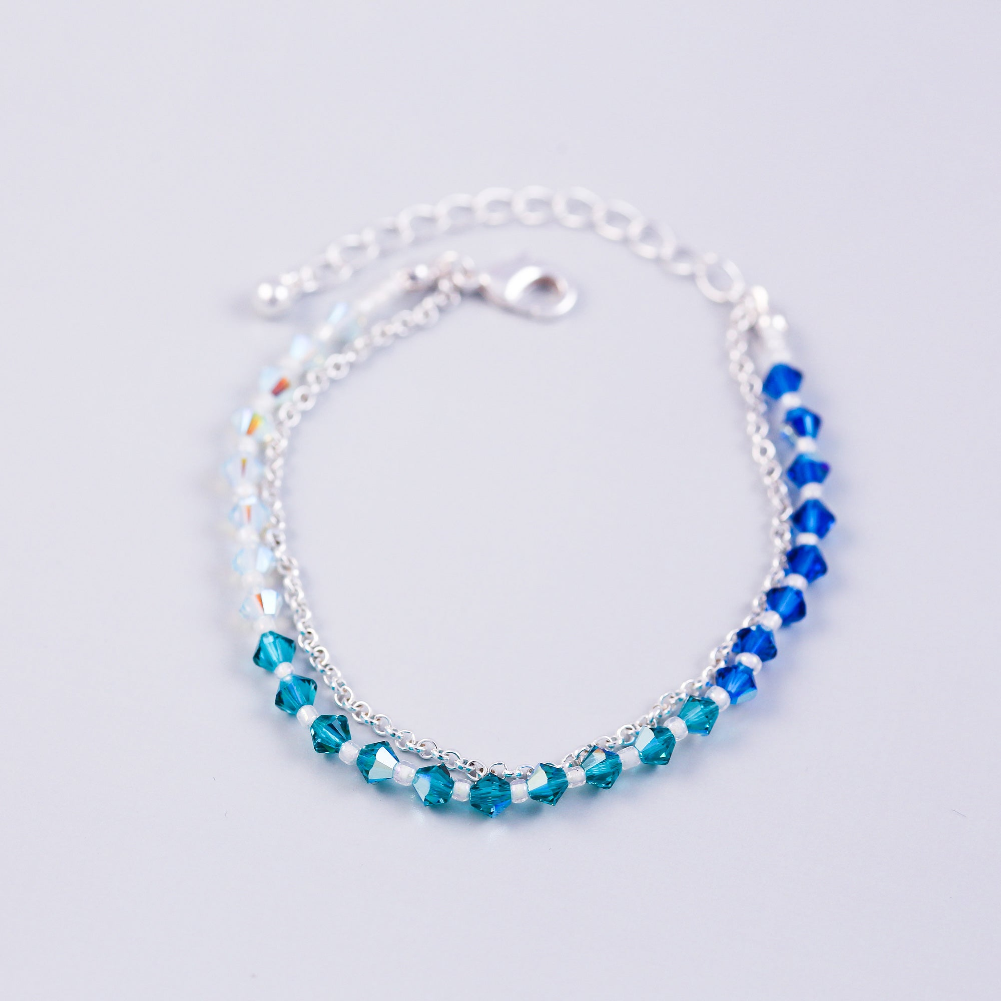 The Four Elements Earth Air Fire Water | Water Element Bracelet | Silver