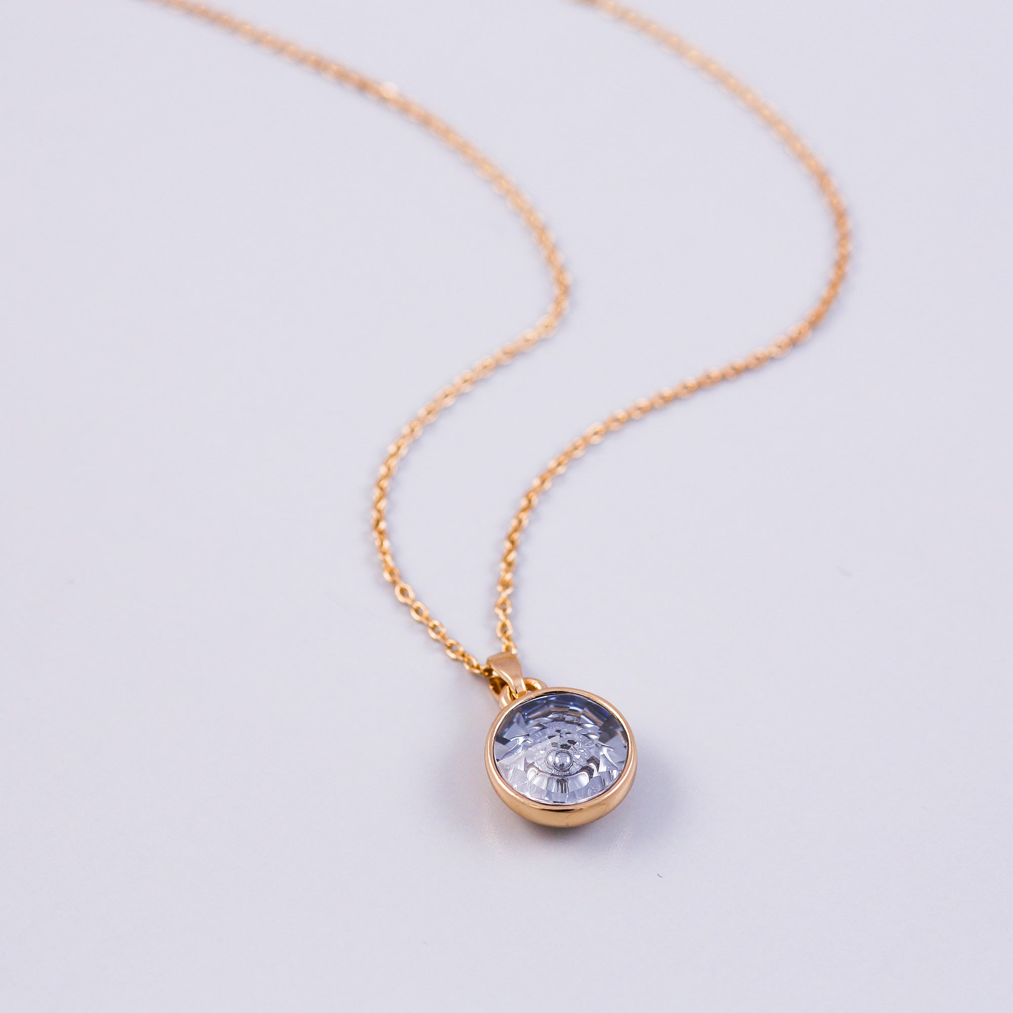 Gold Water Element Gemstone Necklace