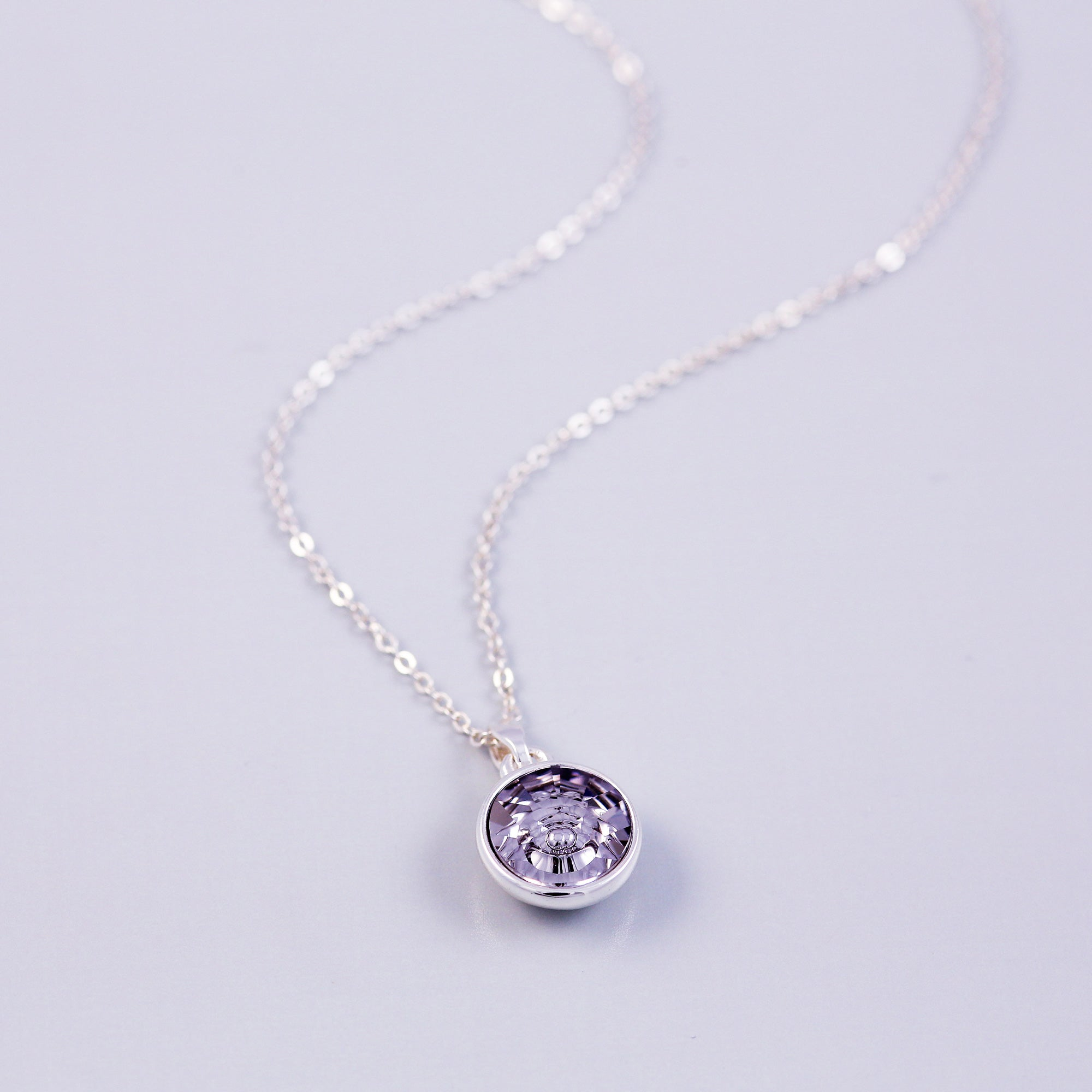 Silver Air Element Gemstone Necklace