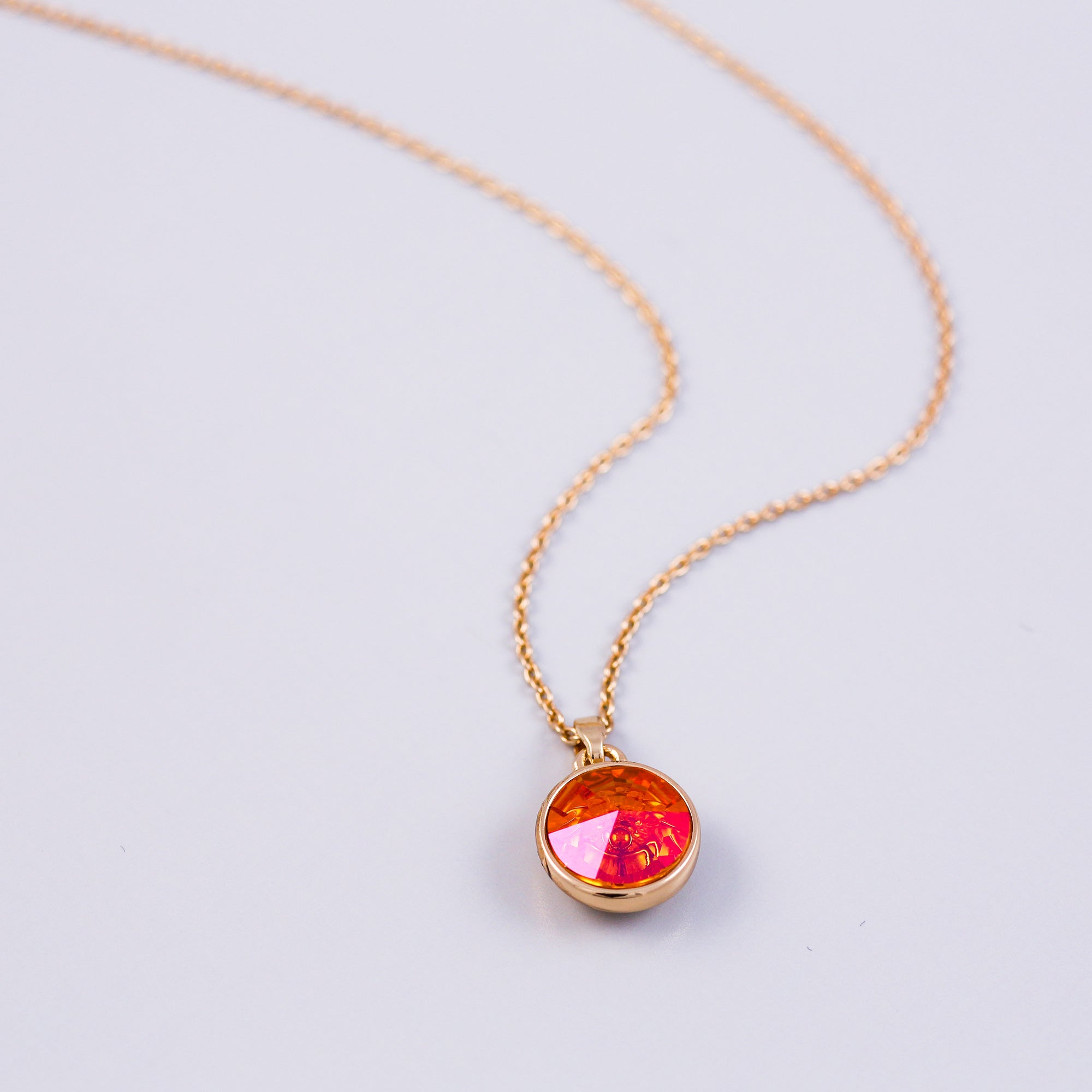 Gold Fire Element Gemstone Necklace