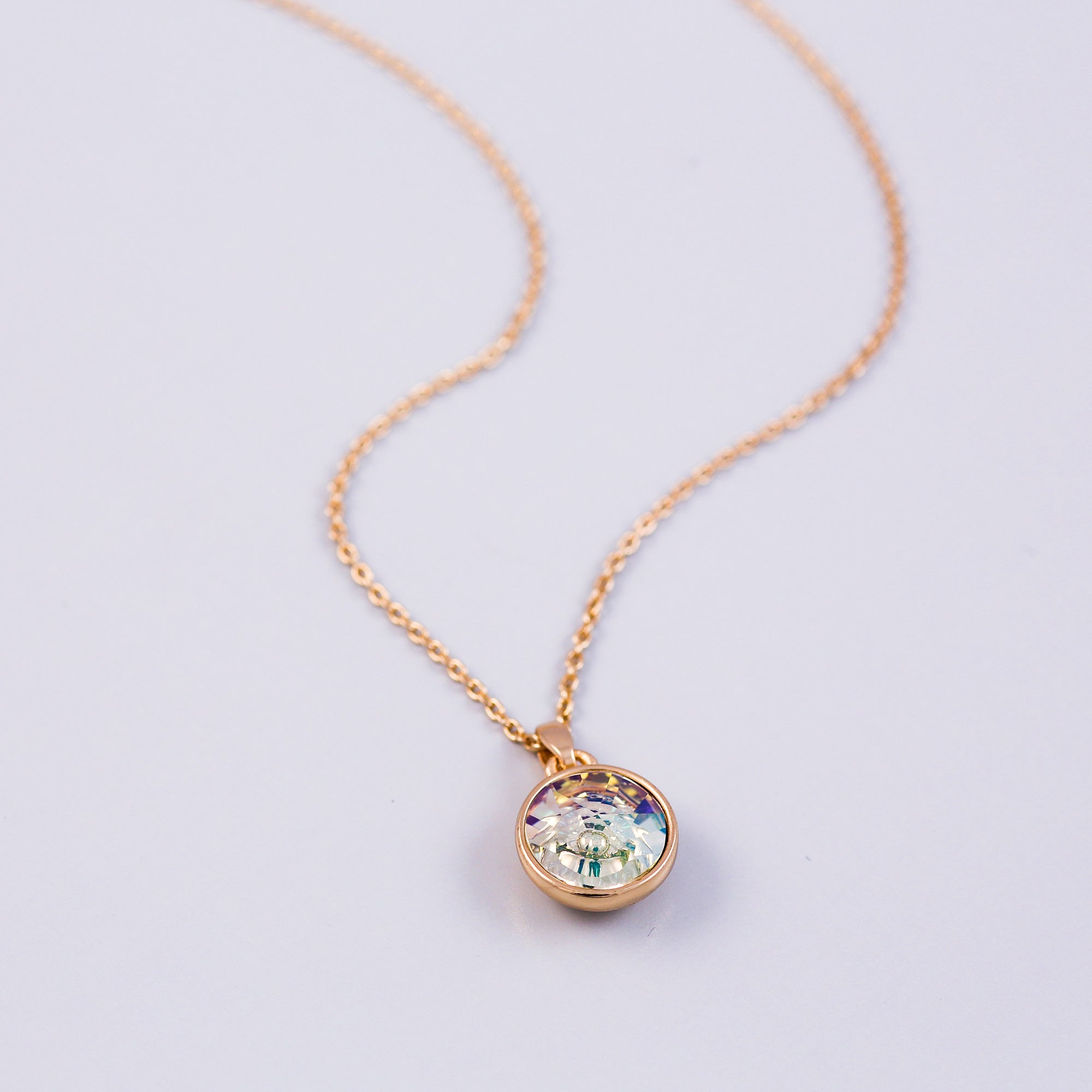 Gold Earth Element Gemstone Necklace