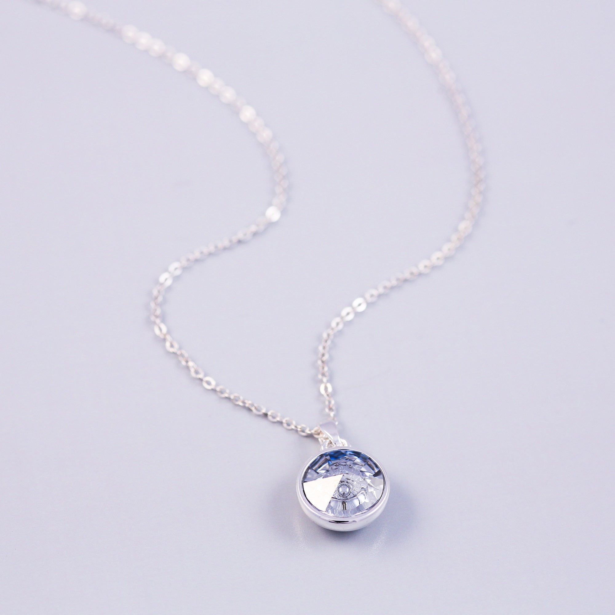 Silver Water Elements Gemstone Necklace
