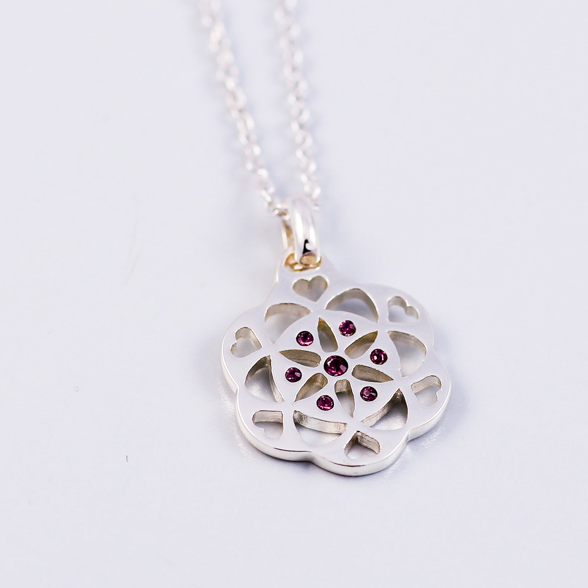 Seed of Life Amethyst February Birthstone Necklace