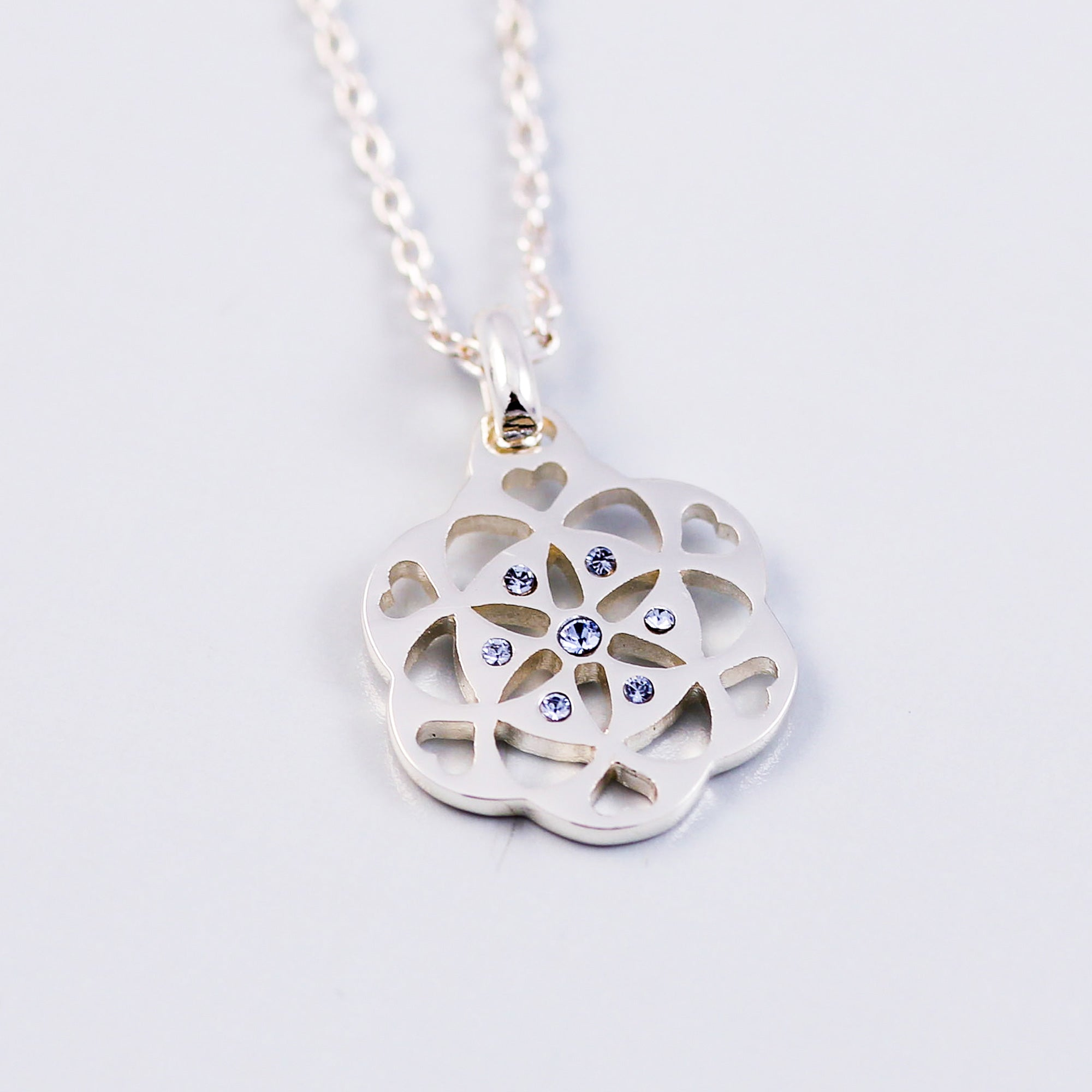 Sacred Geometry | Seed of Life | December Birthstone Necklace