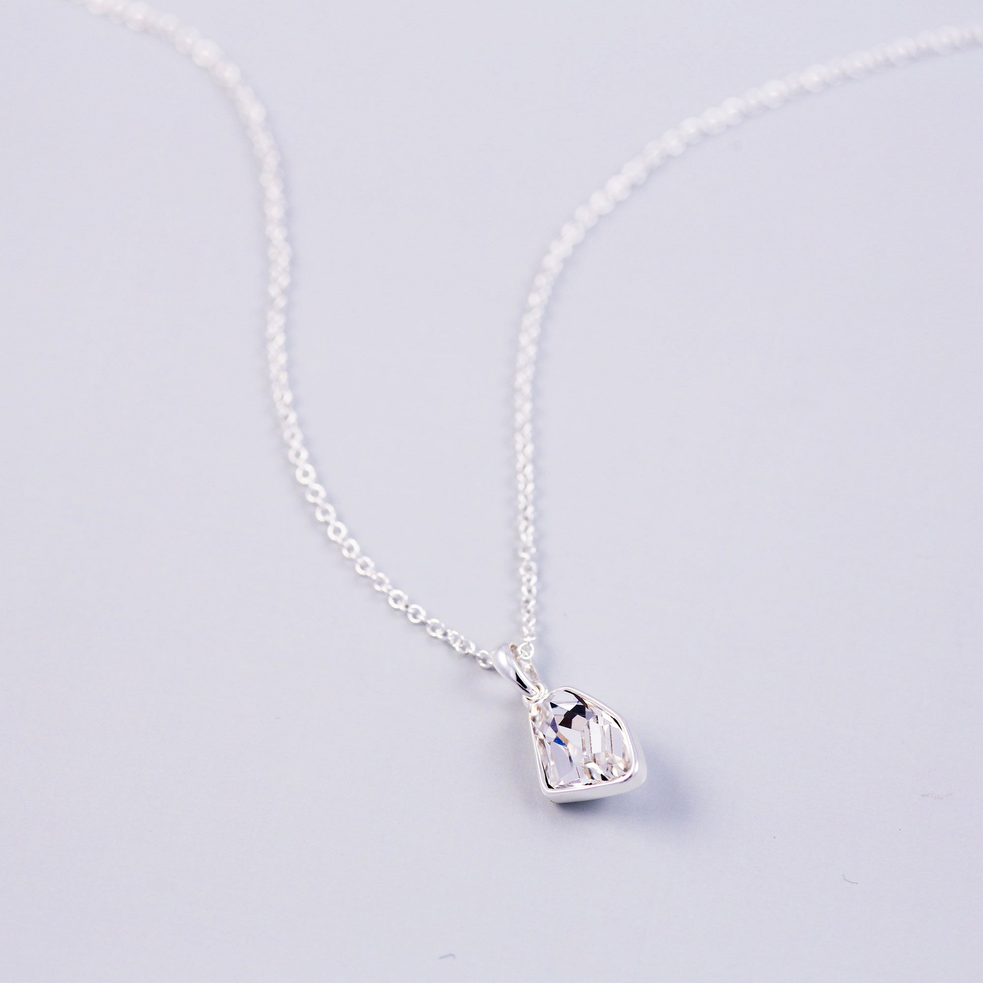 Silver & Crystal Asteroid Necklace