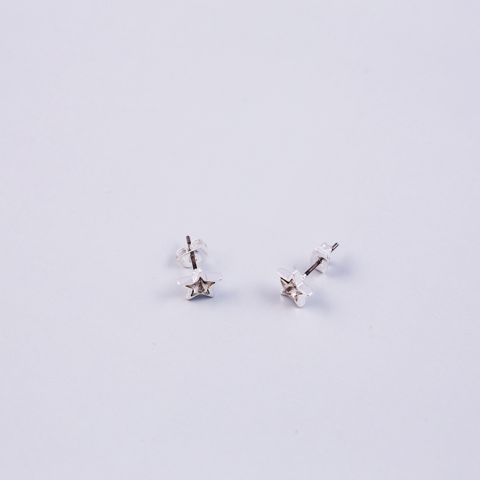 Crystal Star Stud Earrings | Silver Star Earrings | Stud Earrings for