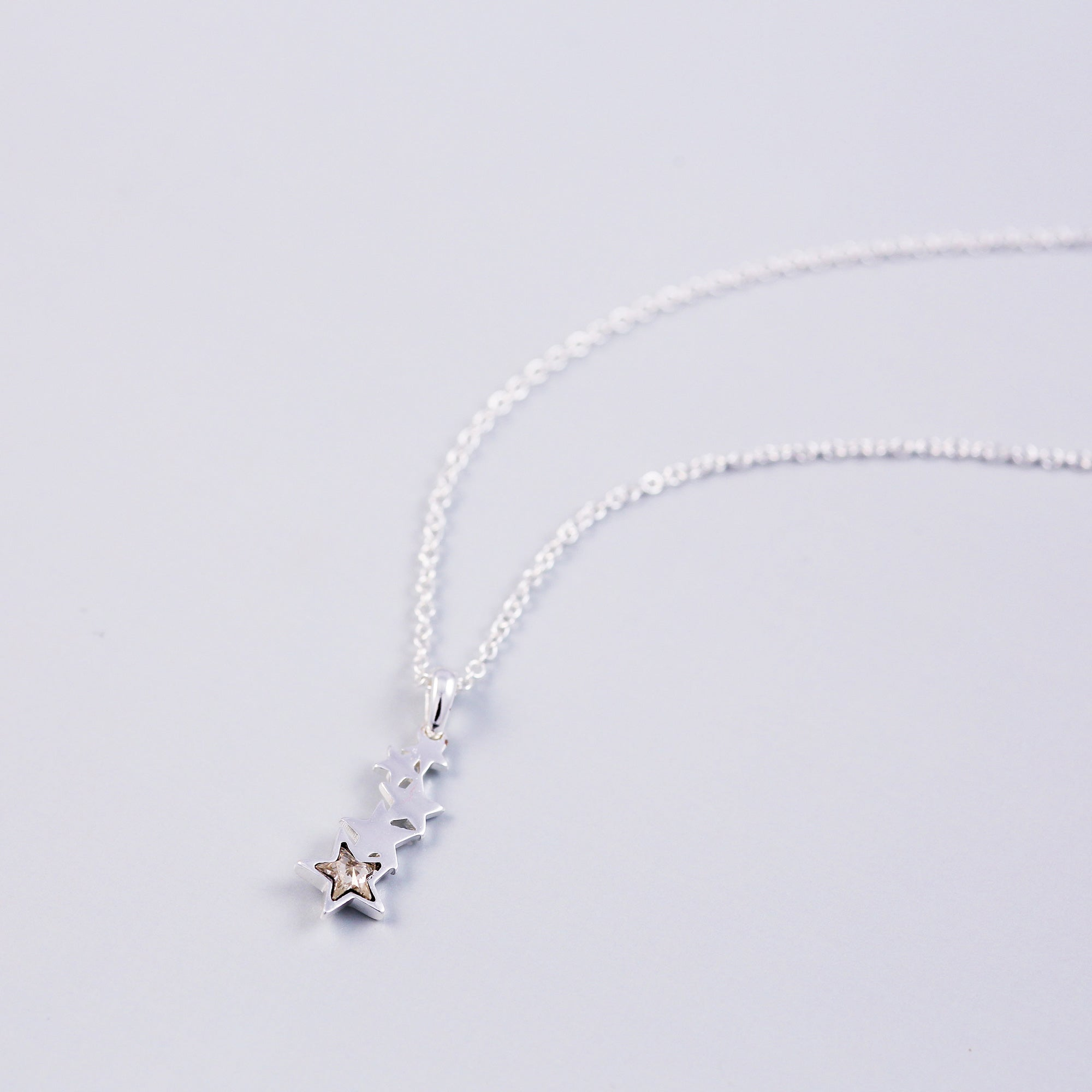 Silver & Crystal Shooting Star Necklace