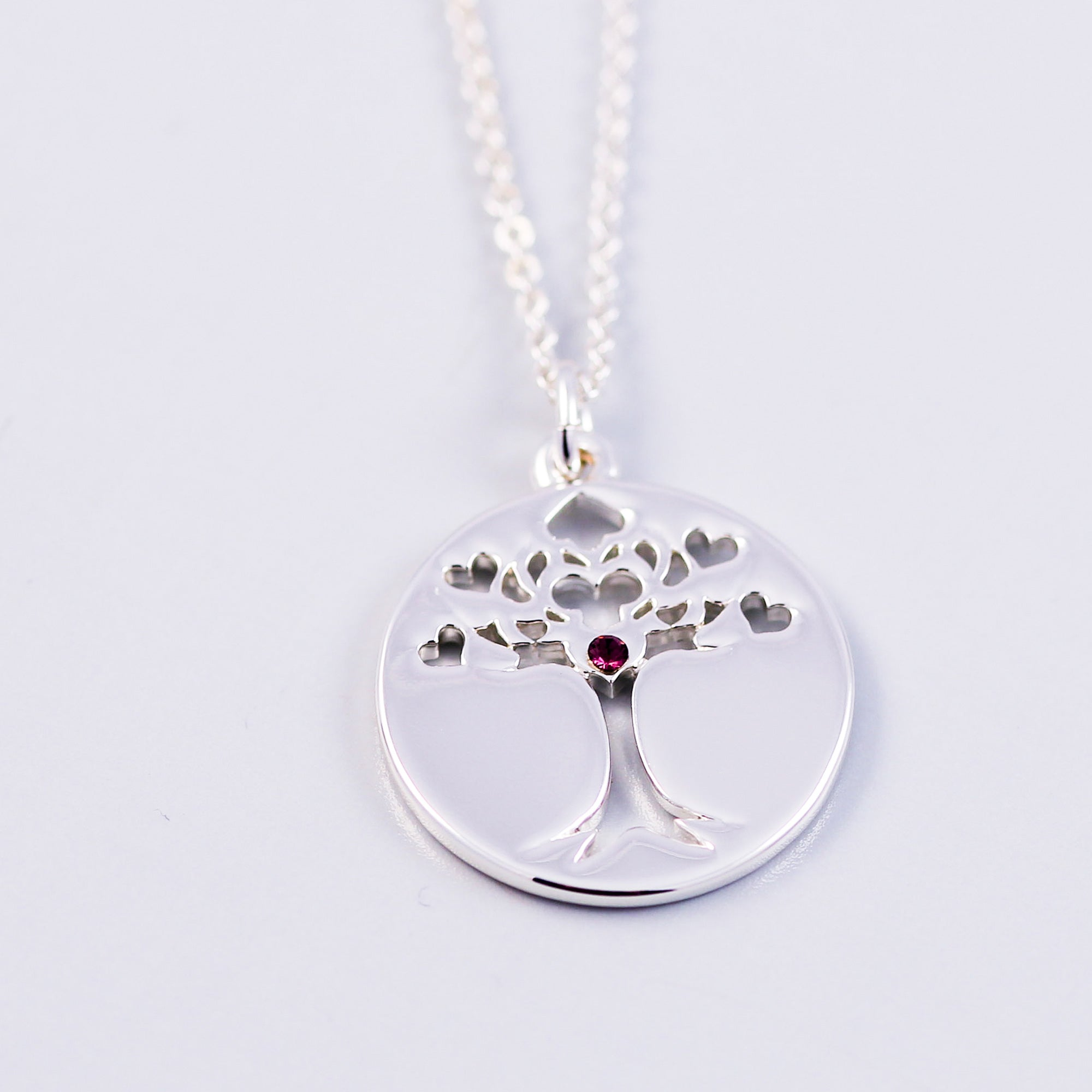 Tree of Life Amethyst February Birthstone Necklace