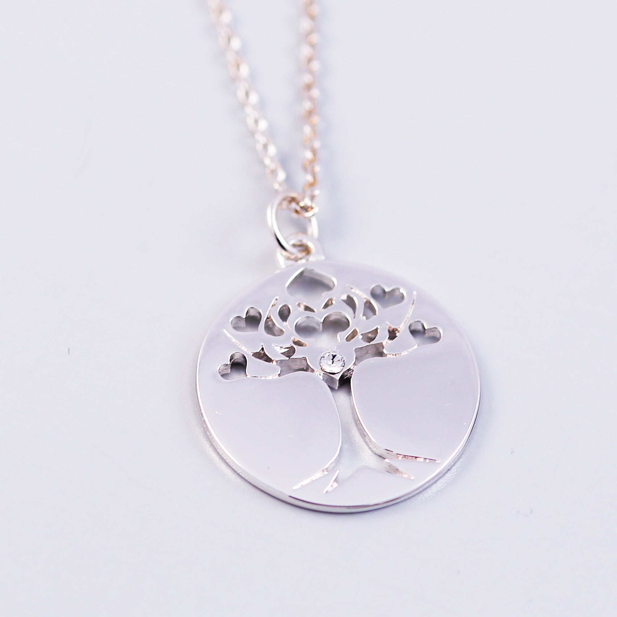 Tree of Life April Birthstone Necklace