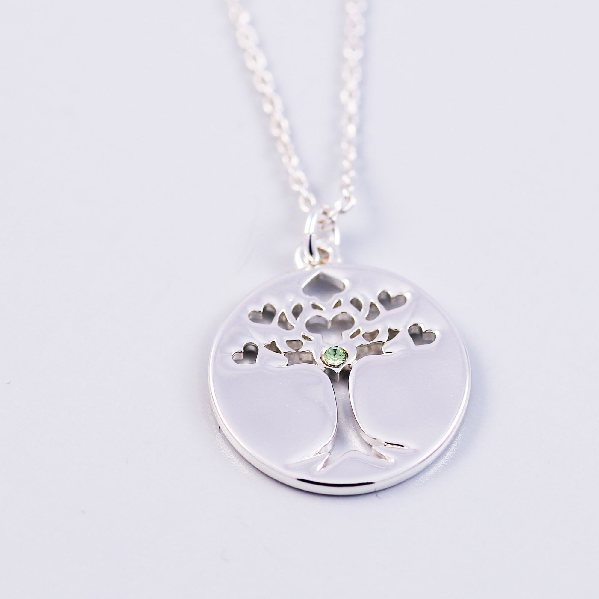 Tree of Life Peridot August Birthstone Necklace