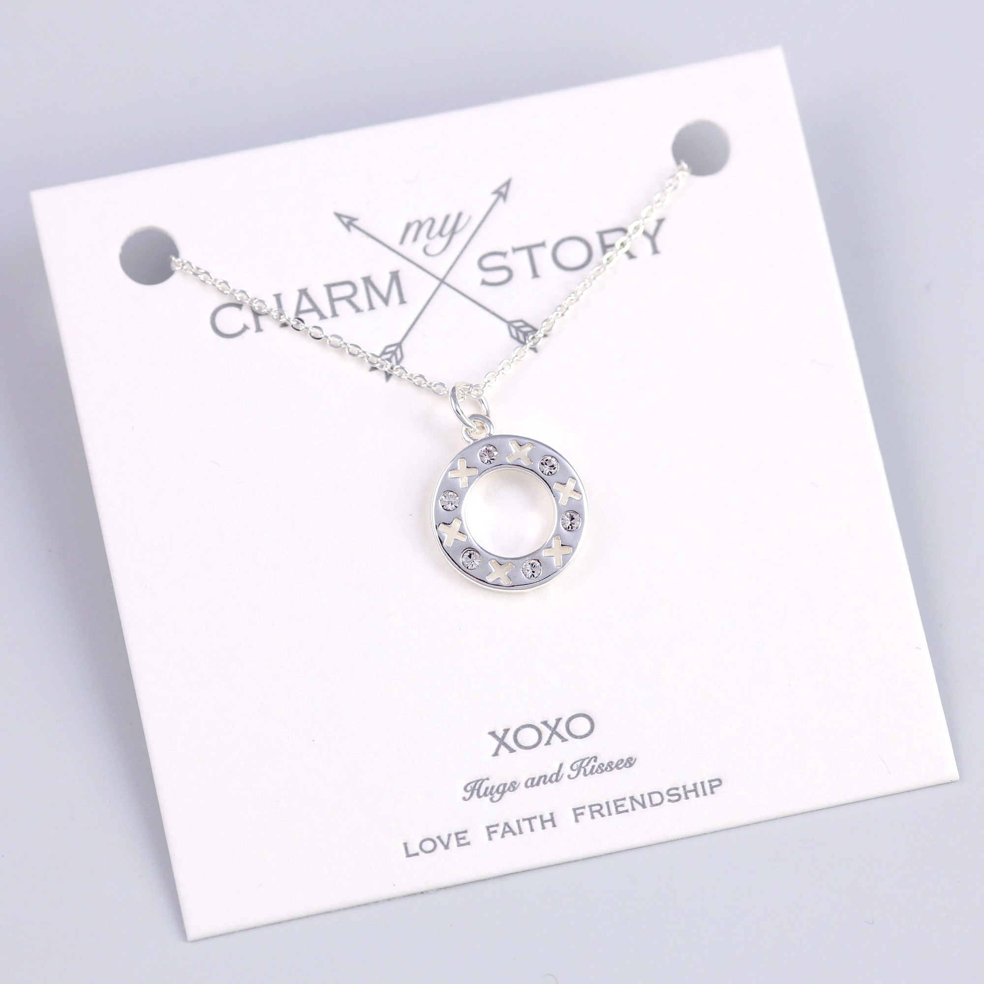 Silver XOXO Necklace