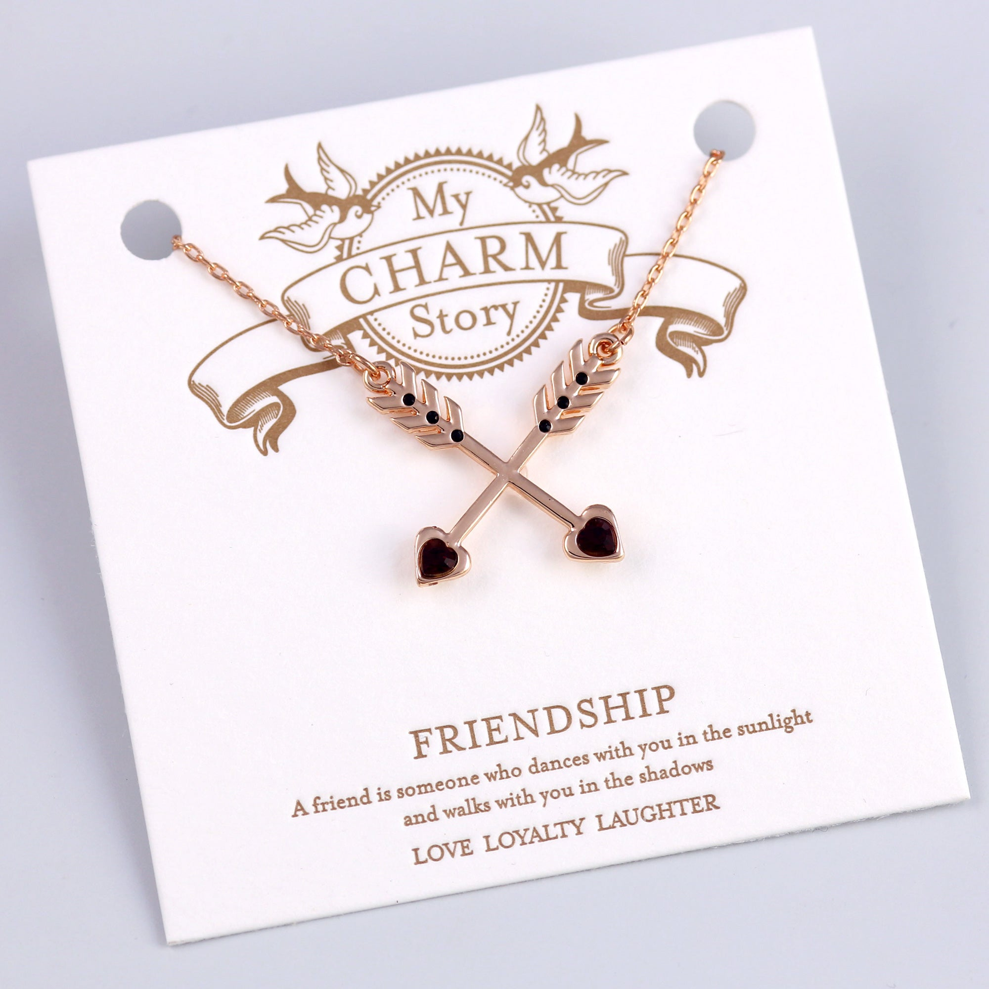 Rose Gold Friendship Arrows My Charm Story Collection