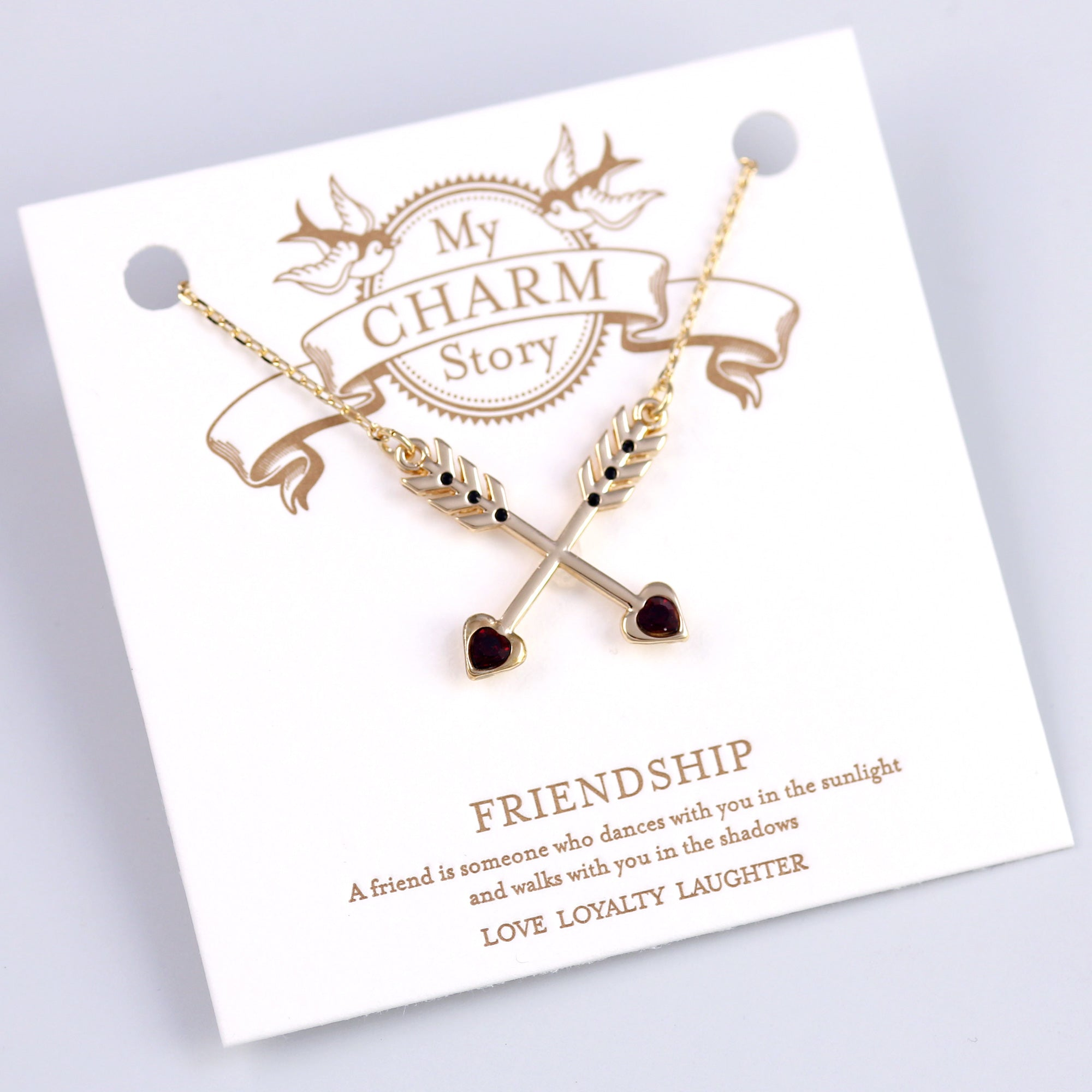Gold Friendship Arrows My Charm Story Collection