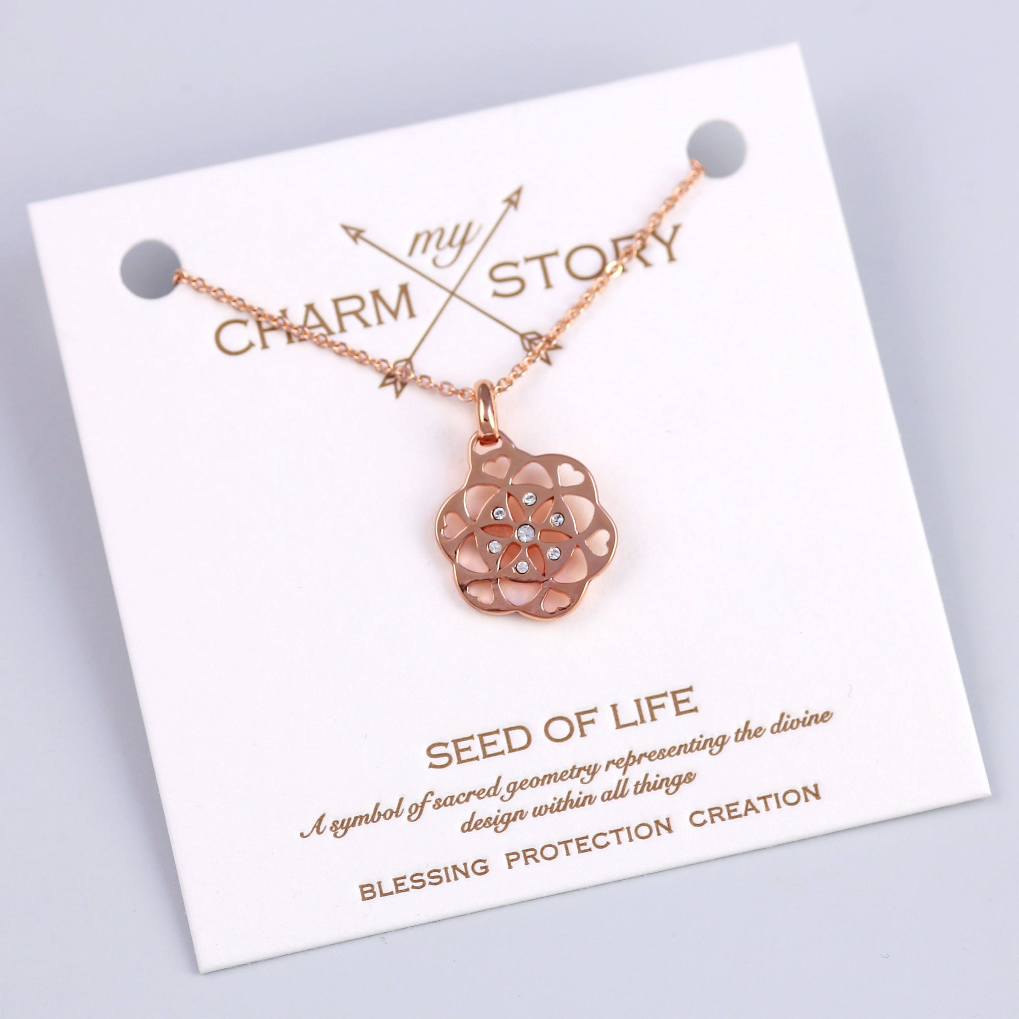 Rose Gold Seed of Life Necklace
