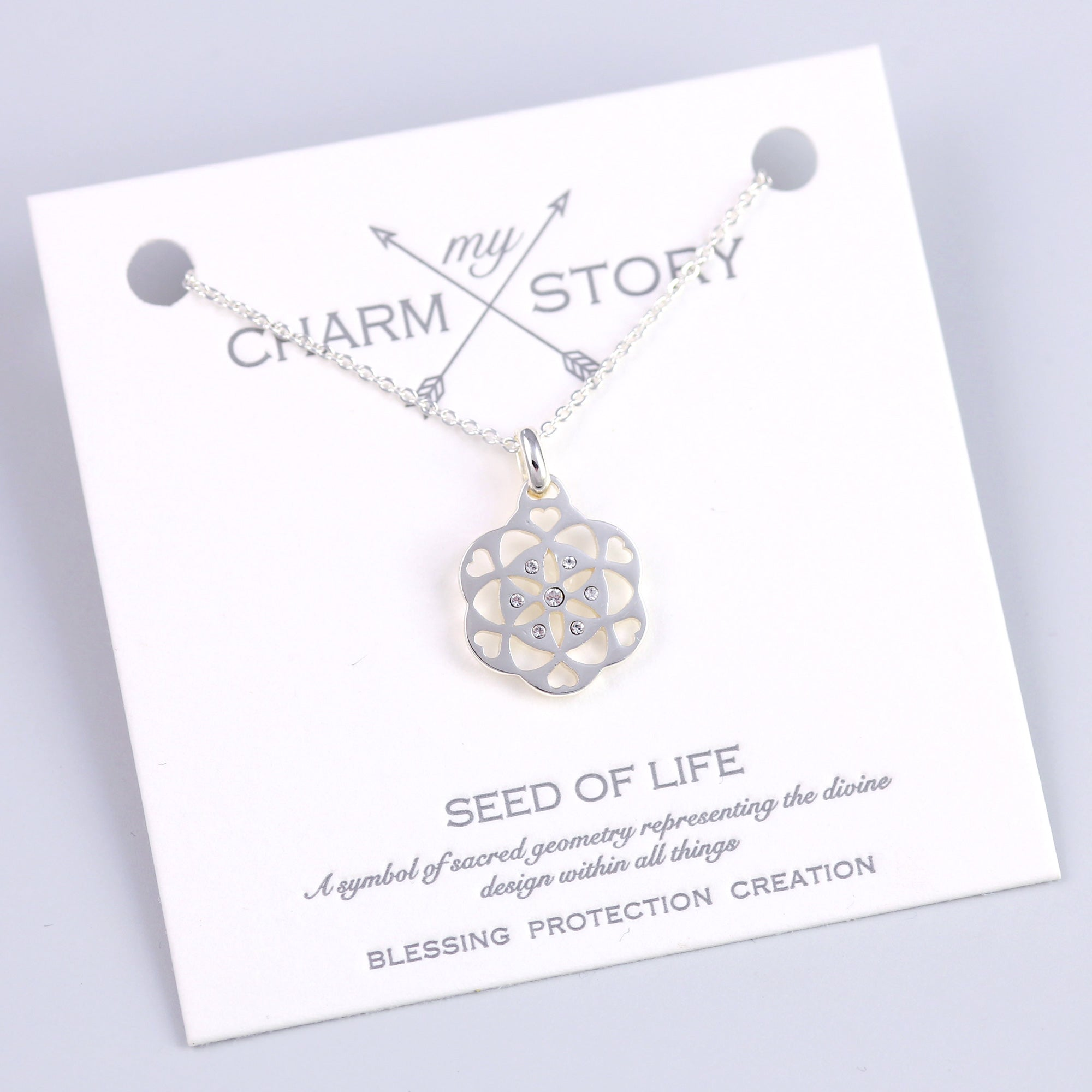 Silver Seed of Life Necklace