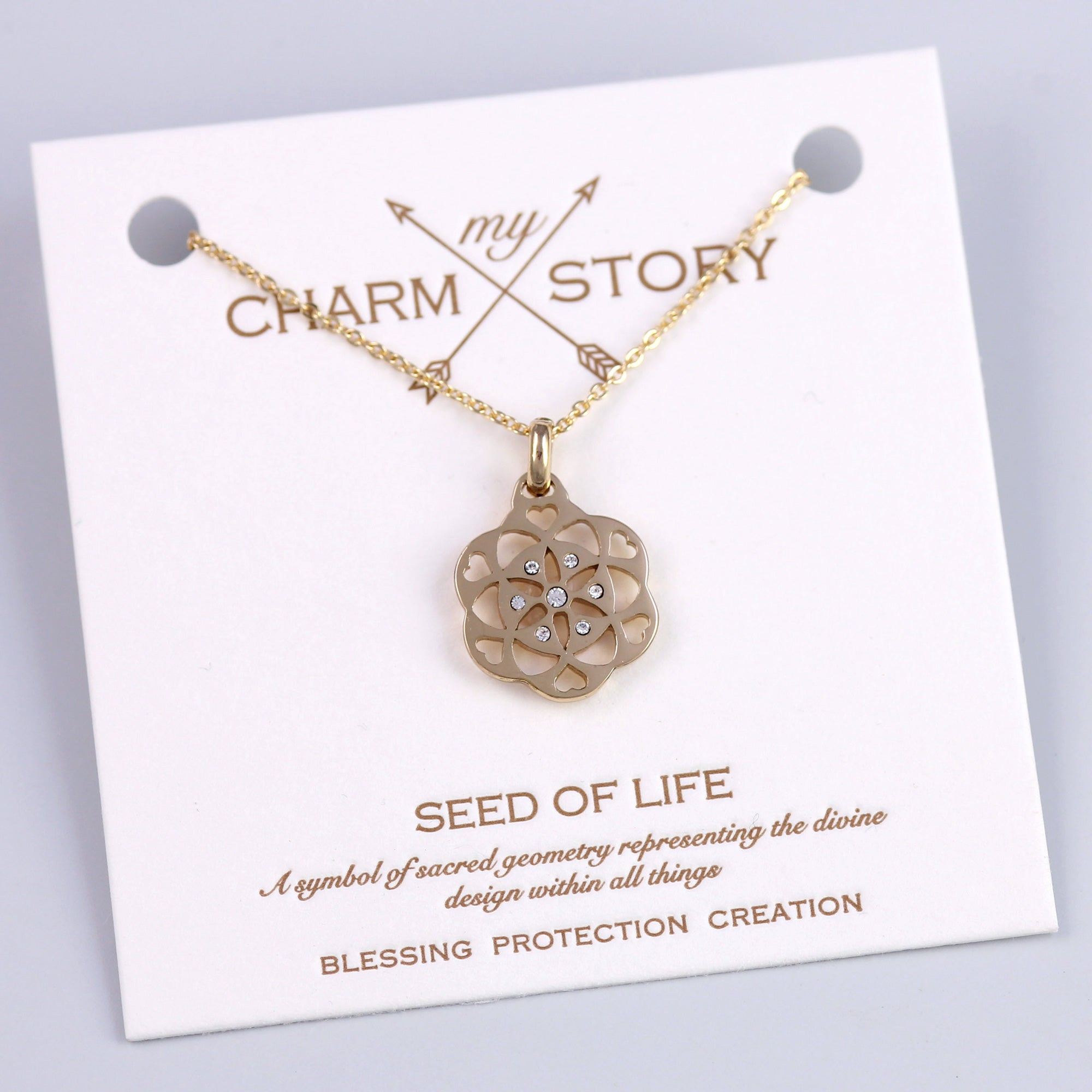 Gold Seed of Life Necklace